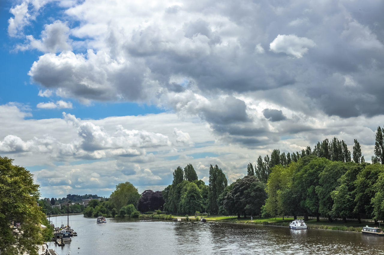 Beauty In Nature Cloud - Sky Day Kingston Upon Thames Lake Landscape Nature Nautical Vessel No People Outdoors Scenics Sky Thames Thames River Tree Water