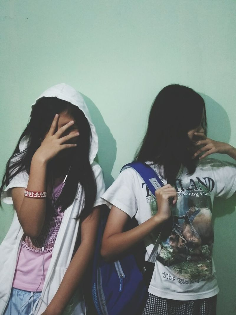 Marvelline and michelle, thanks again for being my model :) Teenage Girls Friendship Two People Tumblr Tumblrfashion First Eyeem Photo