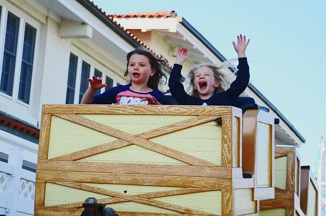 Roller Coaster Pure Joy Kids Being Kids Theme Park New Jersey Ocean City Nj  Rides