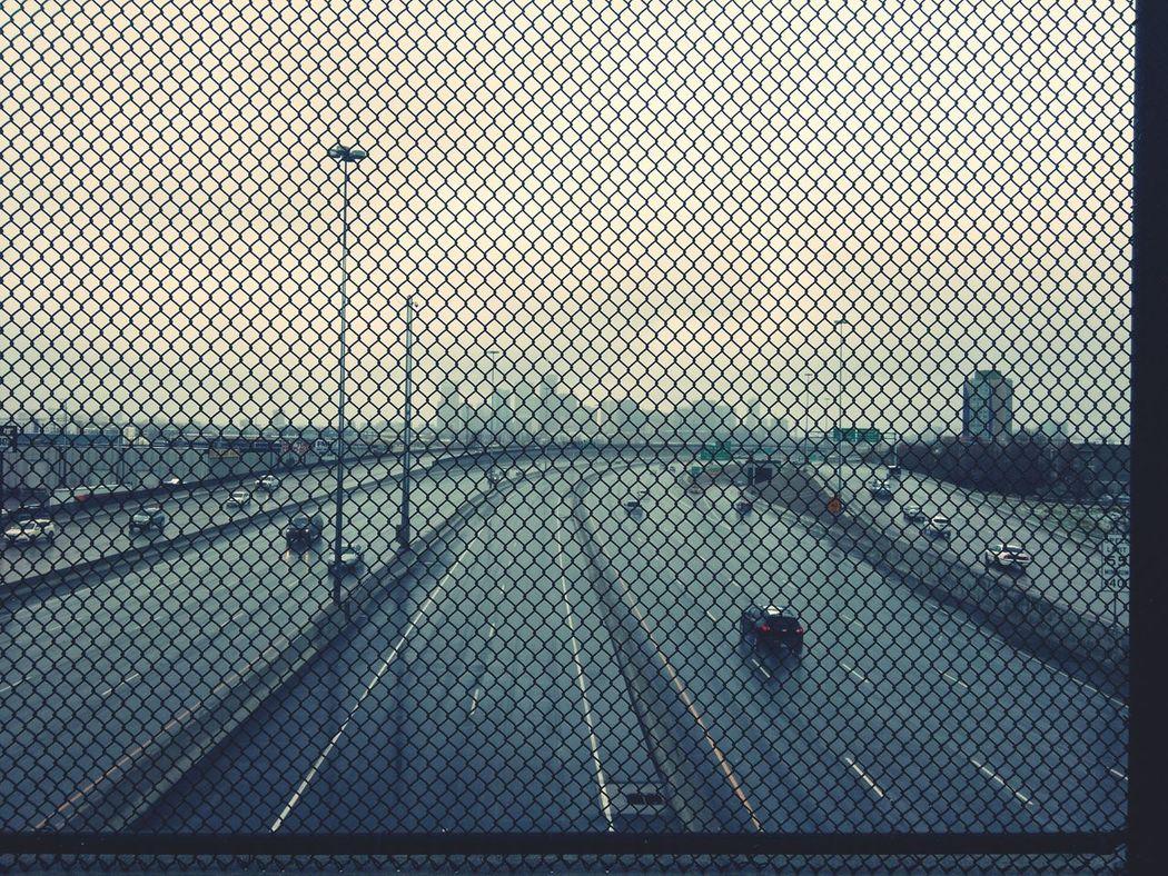 A Bird's Eye View Transportation City Fence Pattern