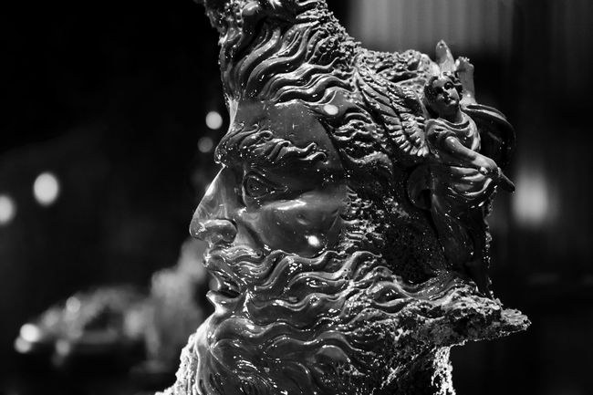 Porcelain statue of Poseidon Art Black & White Black And White Blackandwhite Photography Close-up Creativity Detail Focus On Foreground Porcelain  Sculpture