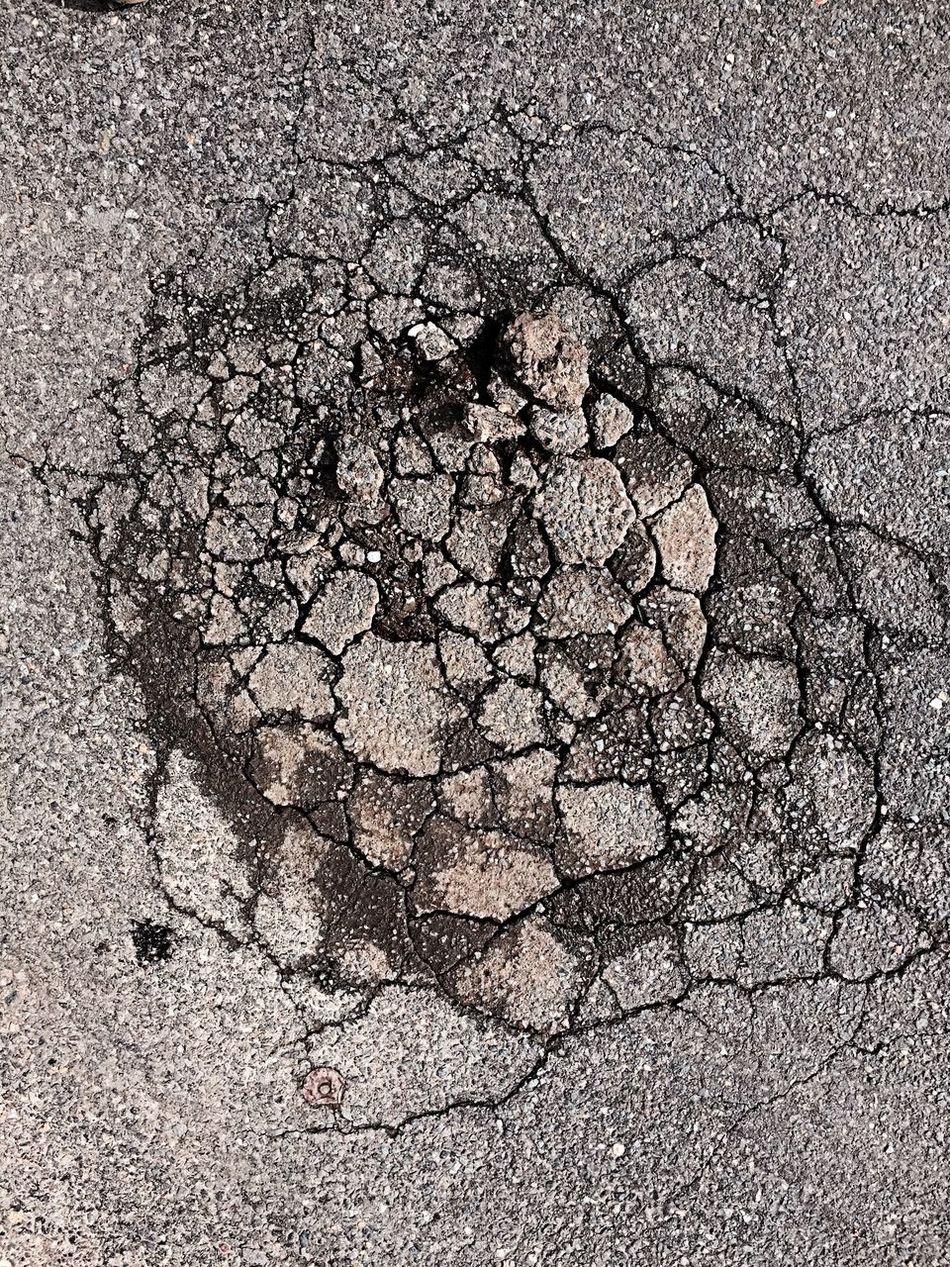 Potholes Looking Down