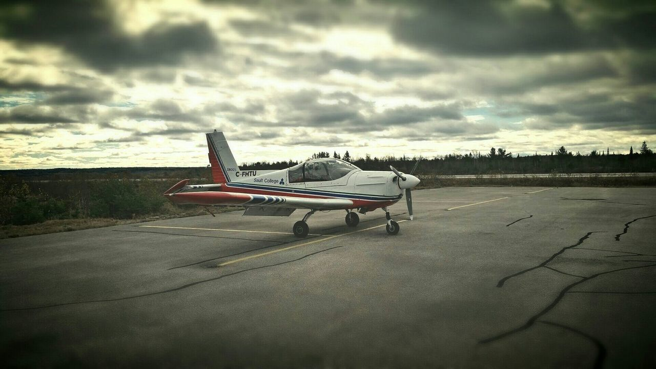 Zlin 242L - Elliot Lake, Canada Transportation Airplane Zlin Canada Fall Flying Sunset Clouds Sky Colour First Eyeem Photo