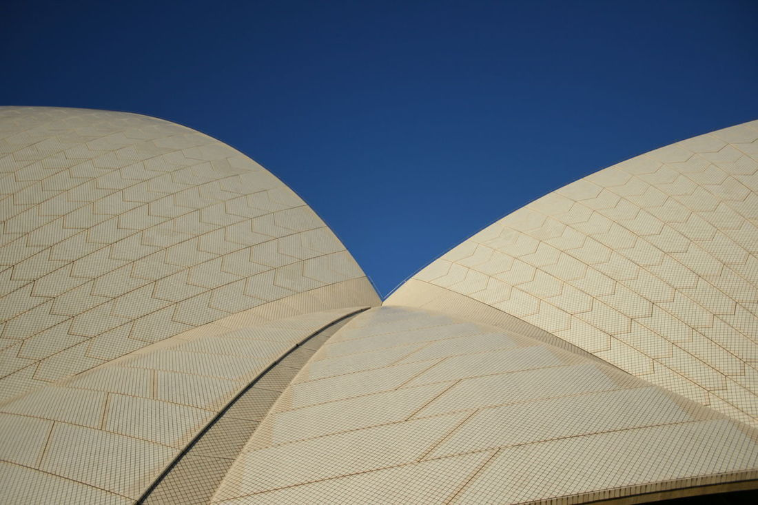Architecture Blue Building Exterior Built Structure Clear Sky Day Geometric Shape High Section Low Angle View Modern No People Operahouse Outdoors Repetition Sidney Tall