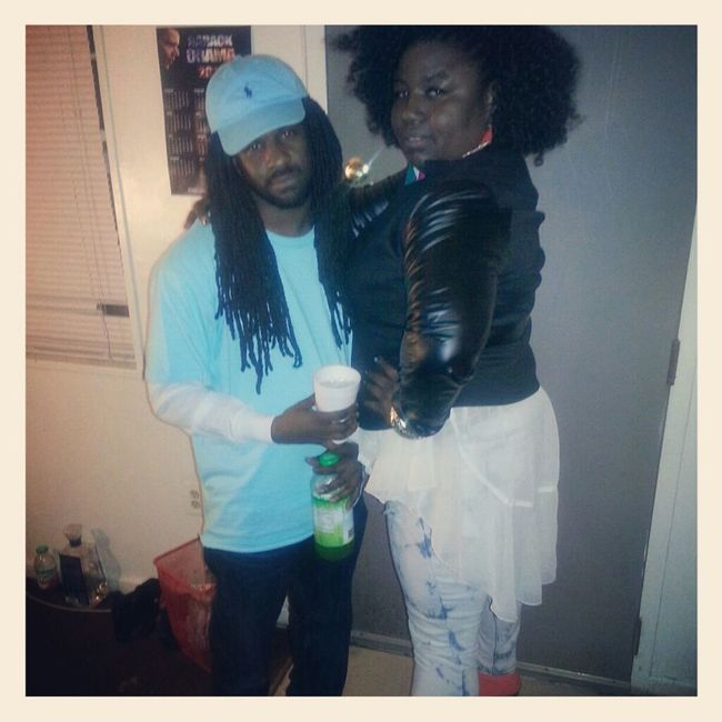 me & my brother hanging out on my b-day 3/6/13