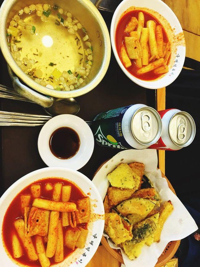 떡볶이 Topokki 튀김 Sweetpumpkin Food with Friend . Delicious ❤ Like