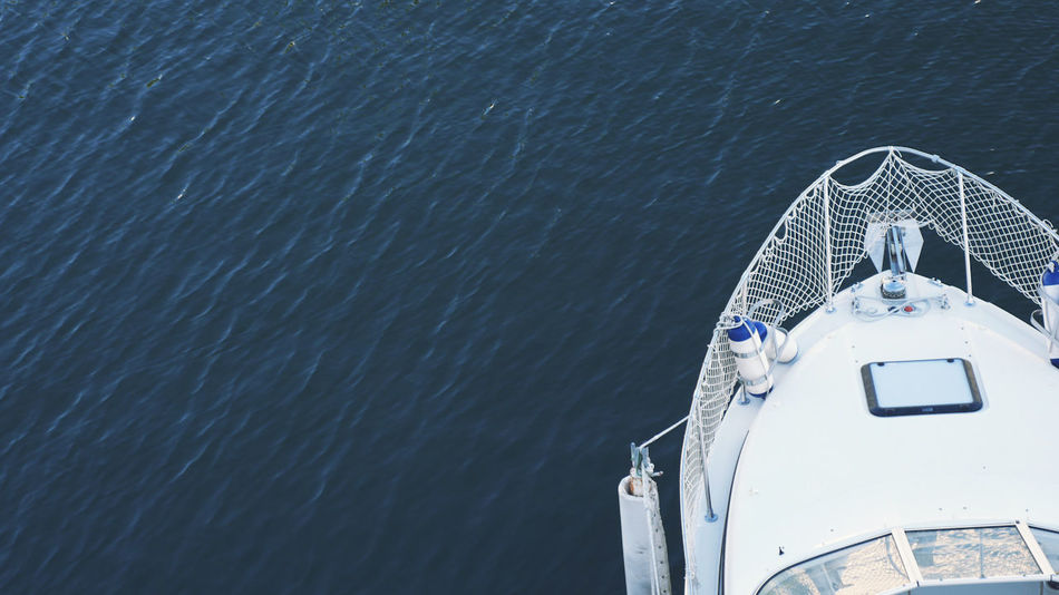 Blue Wave Boat Boat Deck Day Mode Of Transport Nature No People Outdoors Sea Transportation Water White Boat