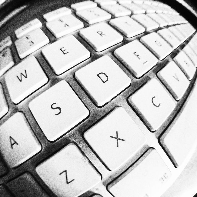 Keypad Keypad Letters Keys Qwerty Qwerty Keyboard Computer Computer Keyboard Alphabet Close Up Detail Distorted Distortion View Fisheye Lens Lens Distortion Depth Of Field