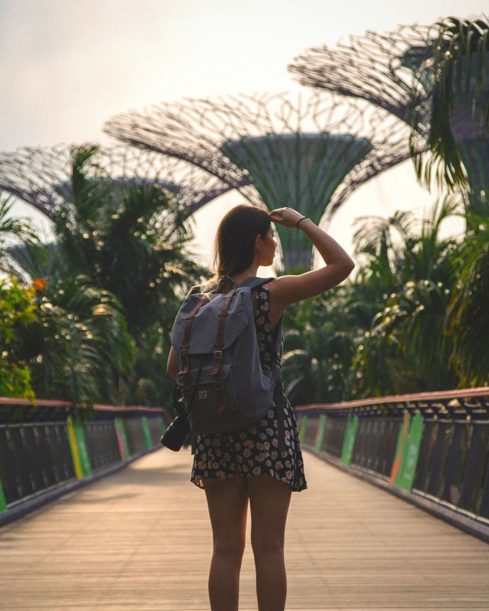 Seek always Rear View One Person One Woman Only Standing Outdoors Young Adult People Day Full Frame Travel Showcase: April Travel Destinations Singapore Architecture Travel Photography Exploring