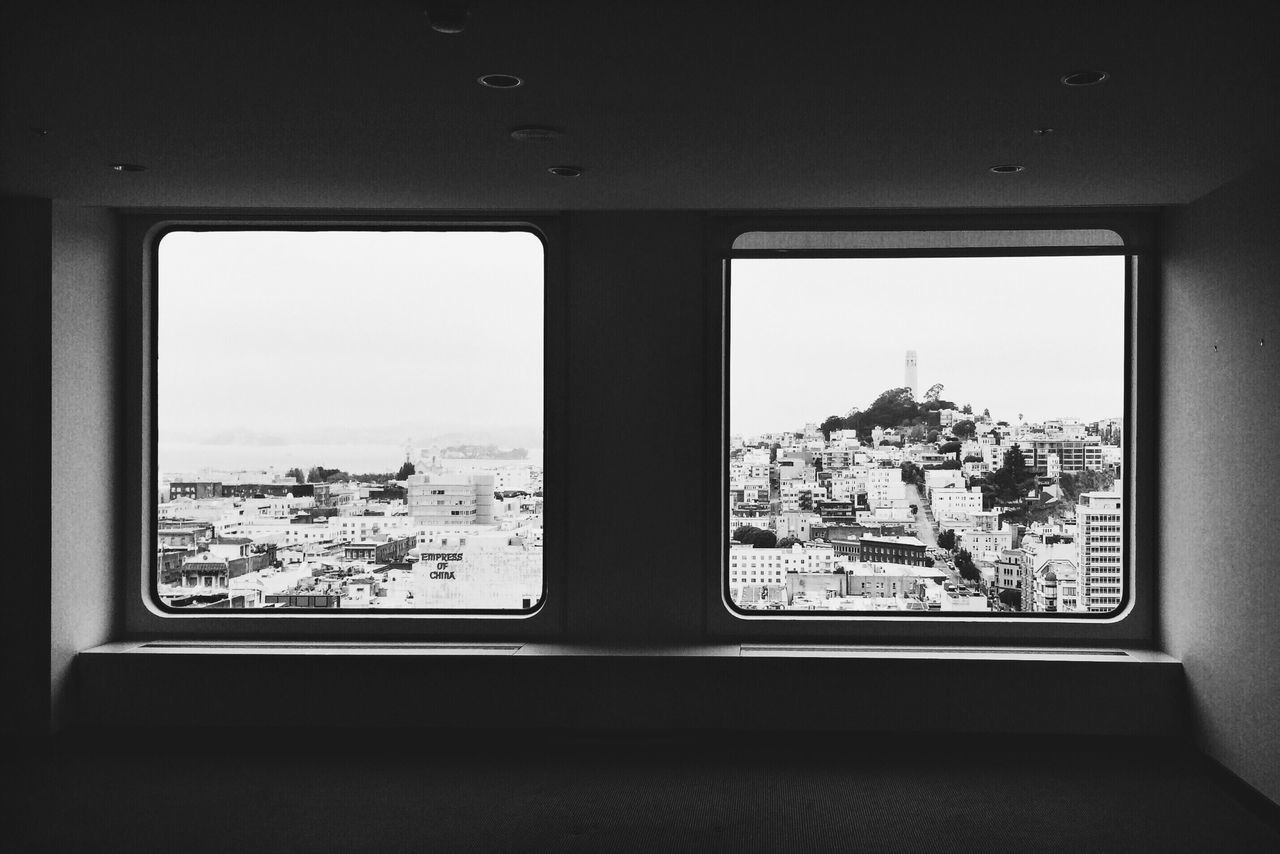Window Architecture City No People Day Built Structure Sky Indoors  Cold Temperature Vision The City Light Black & White
