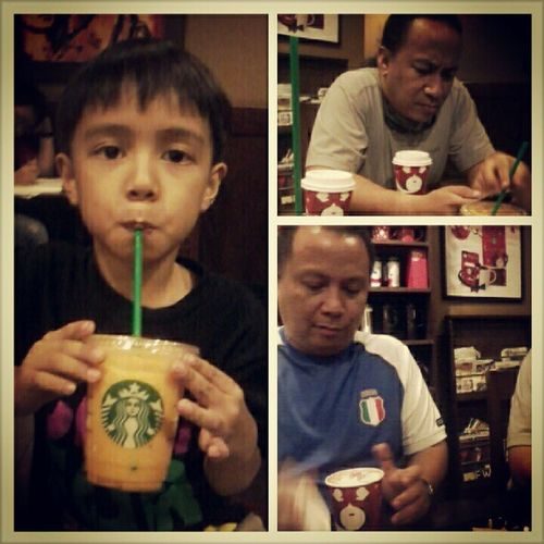 Look where are we now. XD Starbucks Brothers Sippin Chocolatechip frappucino smell of peppermint TIAGOSAGOY Amazing Funny