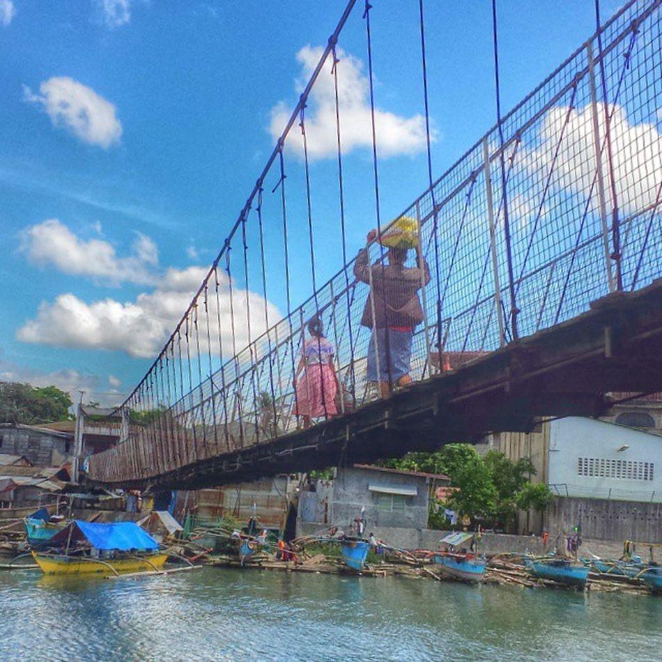 Tawiran, hanging bridge ng Julugan Bikingroute Cavite Tanza