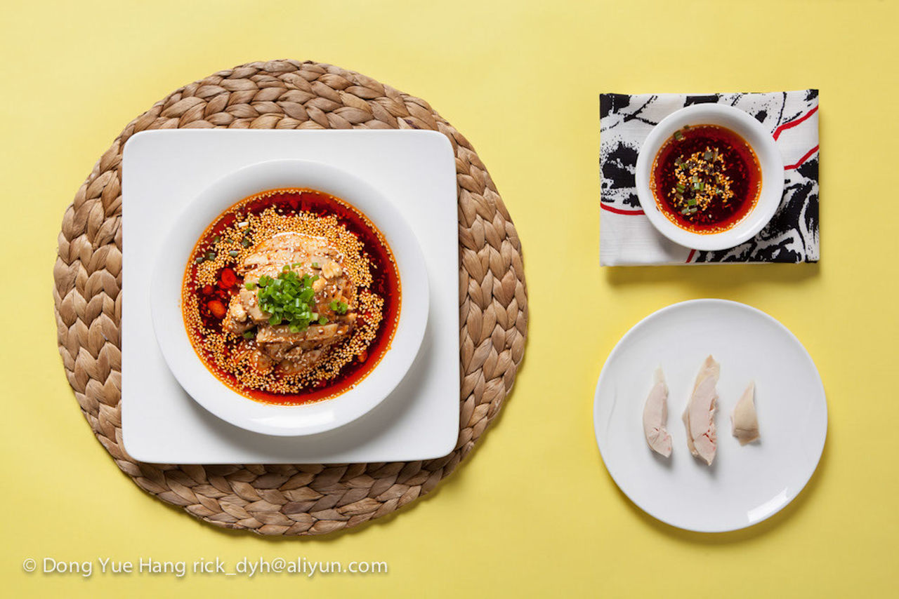 food and drink, food, plate, still life, table, ready-to-eat, freshness, indoors, healthy eating, bowl, indulgence, serving size, no people, directly above, temptation, bread, yellow background, breakfast, studio shot, sweet food, close-up, day