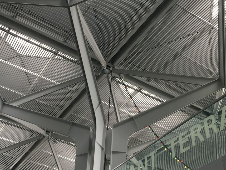 Basel Airport. Ceiling Indoors  Pattern Architecture Transportation Built Structure Low Angle View Modern No People Day EyeEmNewHere