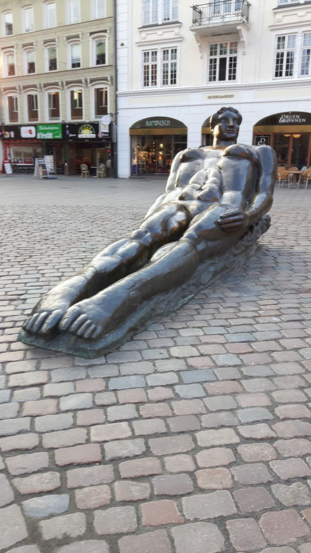City Street Architecture Built Structure No People Odense, Denmark Sculpture Outdoors