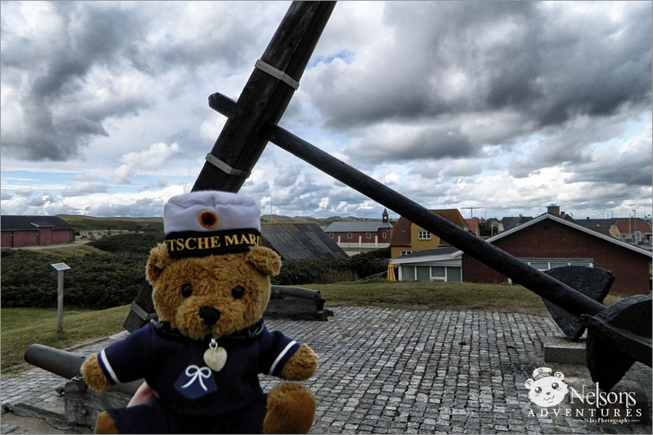2012: Nelson in front of the HMS St. George Anchor. On 24th Dec 1811 the ship grounded near Thorsminde in Denmark. NelsonsAdventures Landscape
