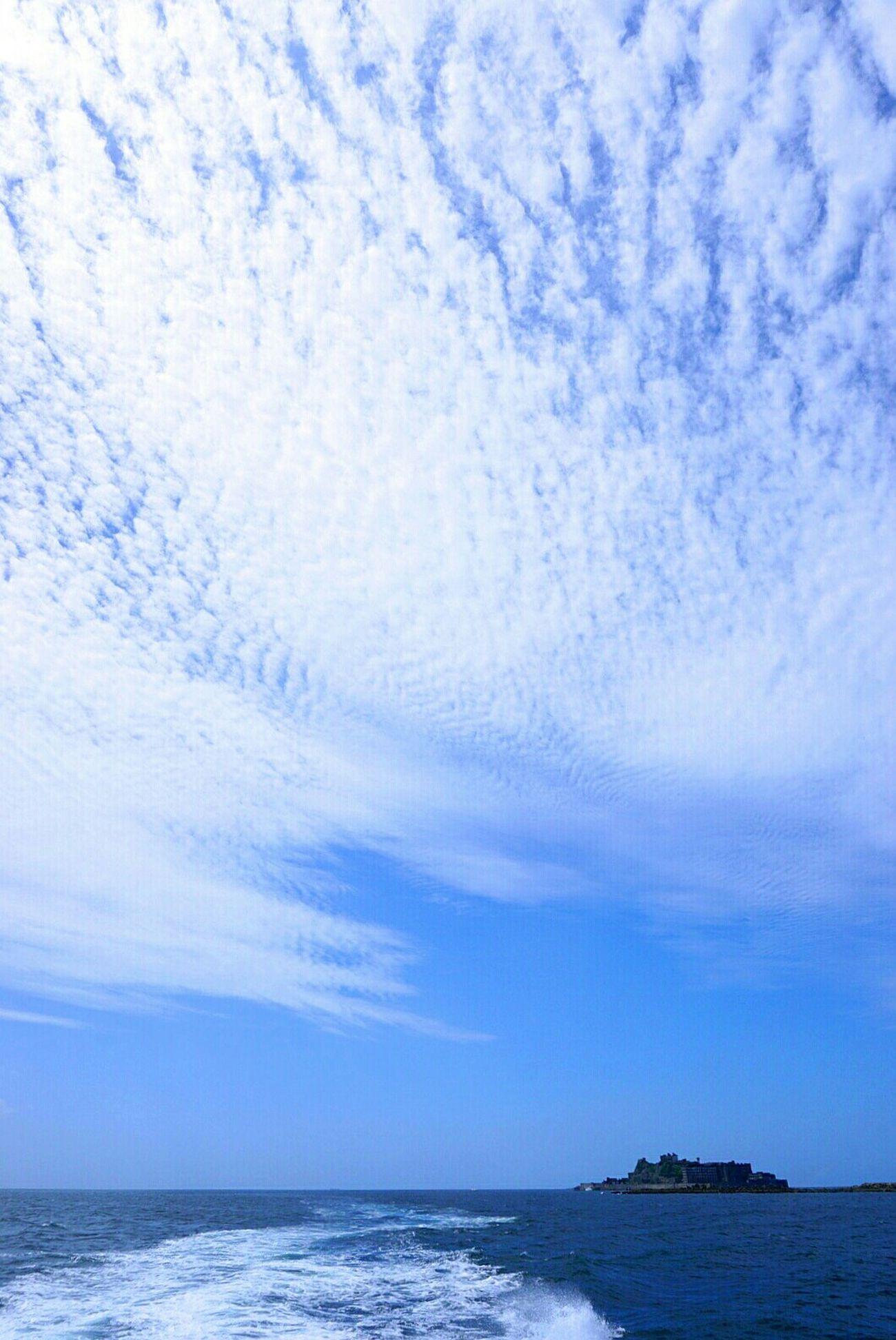軍艦島 端島 世界文化遺産 空 海 雲 軍艦島(gunkan-jima)