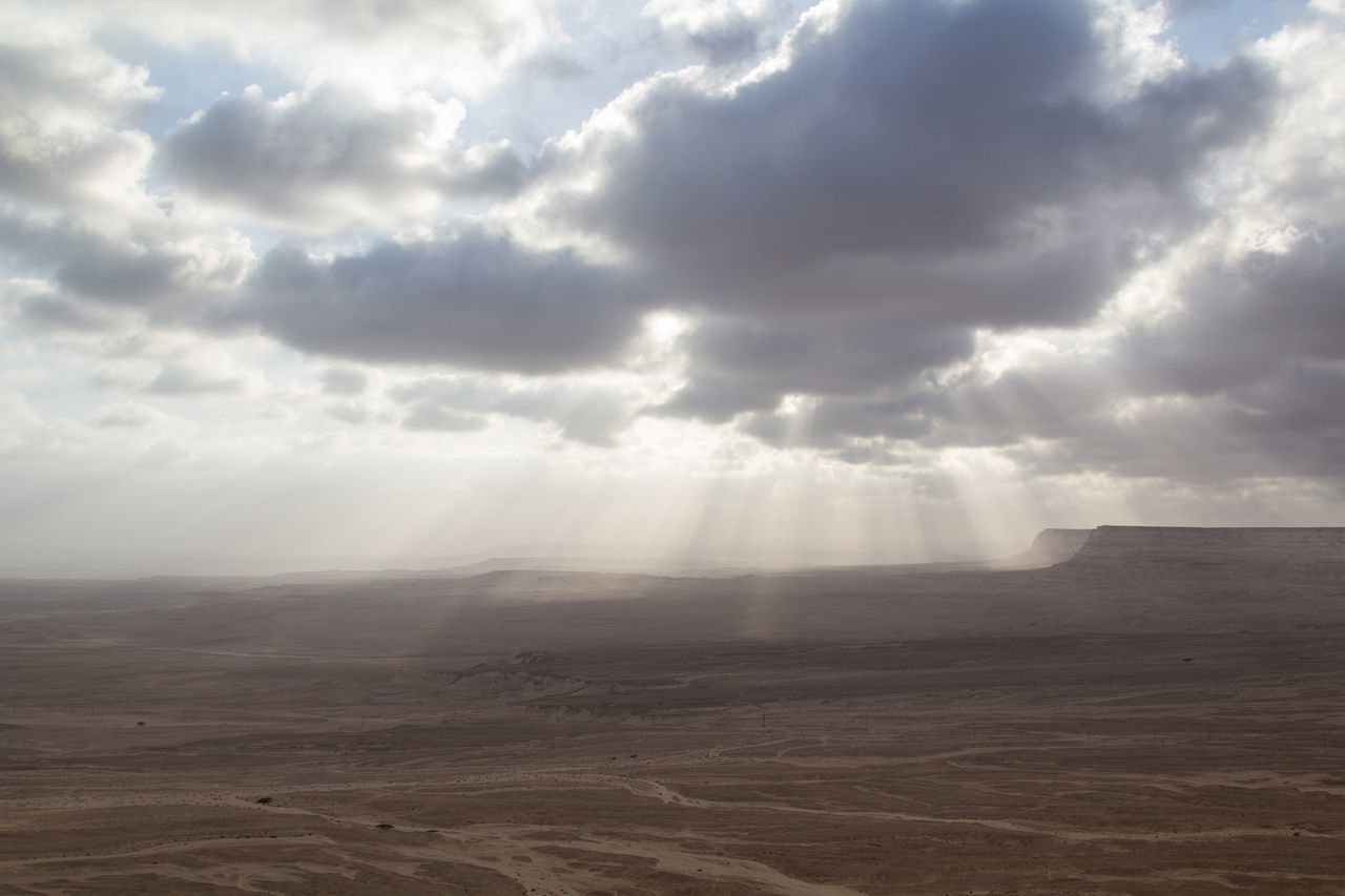 beauty in nature, nature, sky, tranquility, tranquil scene, cloud - sky, no people, scenics, landscape, desert, sand, outdoors, arid climate, sand dune, day