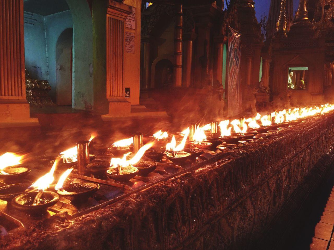 Pray in Buddhism Buddha Candle Beauty