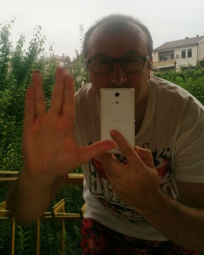 One Person Human Hand Adults Only People Outdoors Day Adult One Man Only Leisure Activity Only Men EyeEmNewHere Greetings Live Long And Prosper Self Portrait Selfie ✌ Self Potrait Selfi