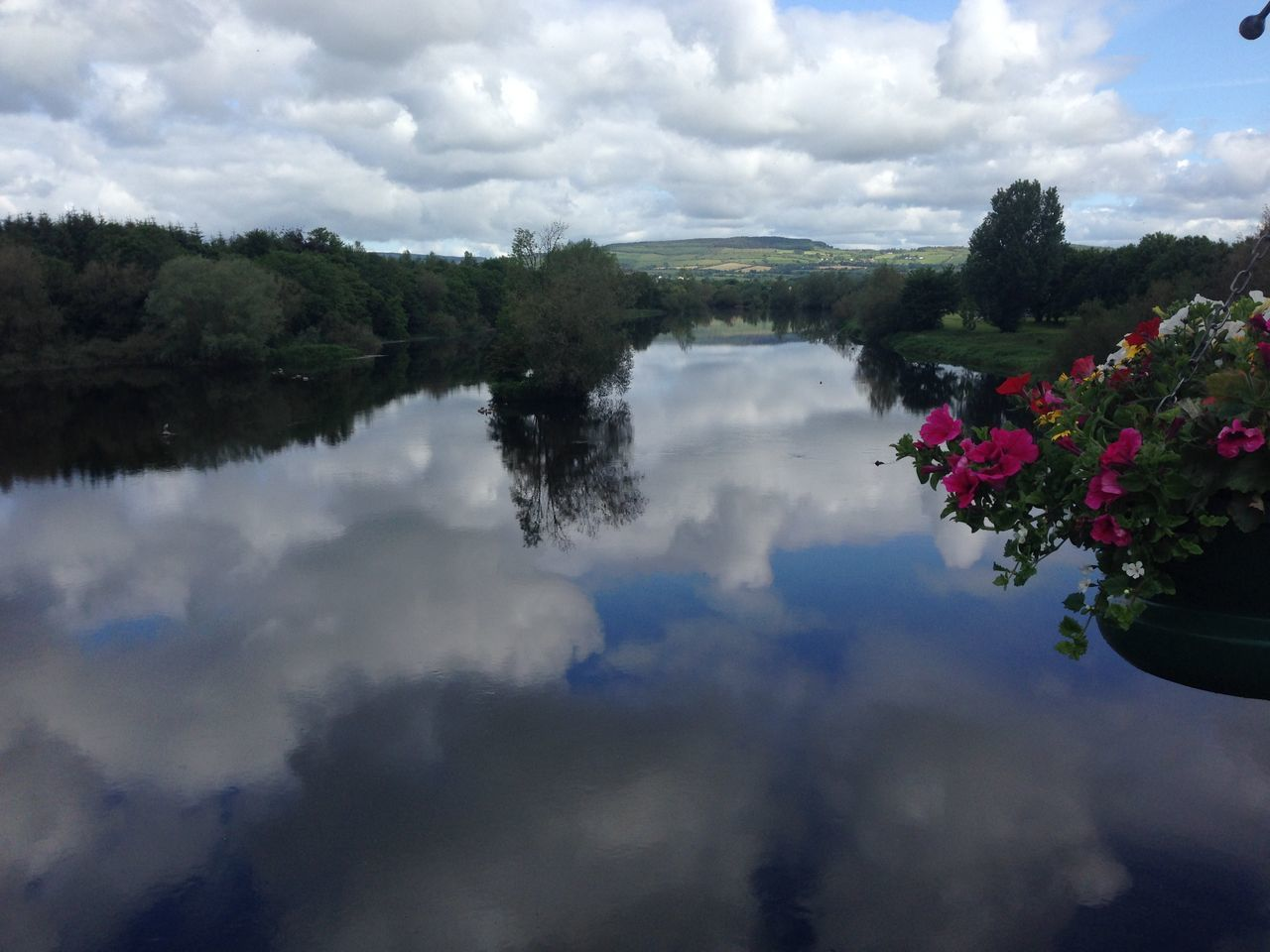 My Year My View- Walking on water floating in clouds Cloud - Sky Reflection Water Shannon River Beauty In Nature Without Edit ^^