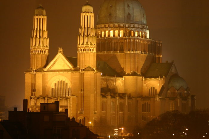 This one was made behind glas, was a beginners mistake, but stil is a showable picture. Architecture Brussels❤️ Building Exterior Built Structure City Dome History Illuminated Koekelberg Basilica Night No People Outdoors Place Of Worship Sky Travel Destinations