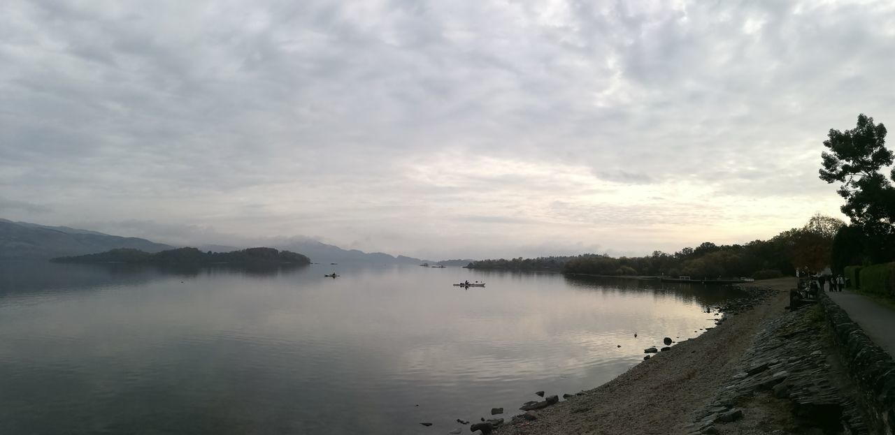 Reflection Lake Landscape Fog Water Accidents And Disasters Social Issues Tree Morning Extreme Weather Nature Arrival Cloud - Sky Beauty In Nature Natural Parkland Nature Reserve Outdoors Mountain Sky No People HuaweiP9 LochLomond