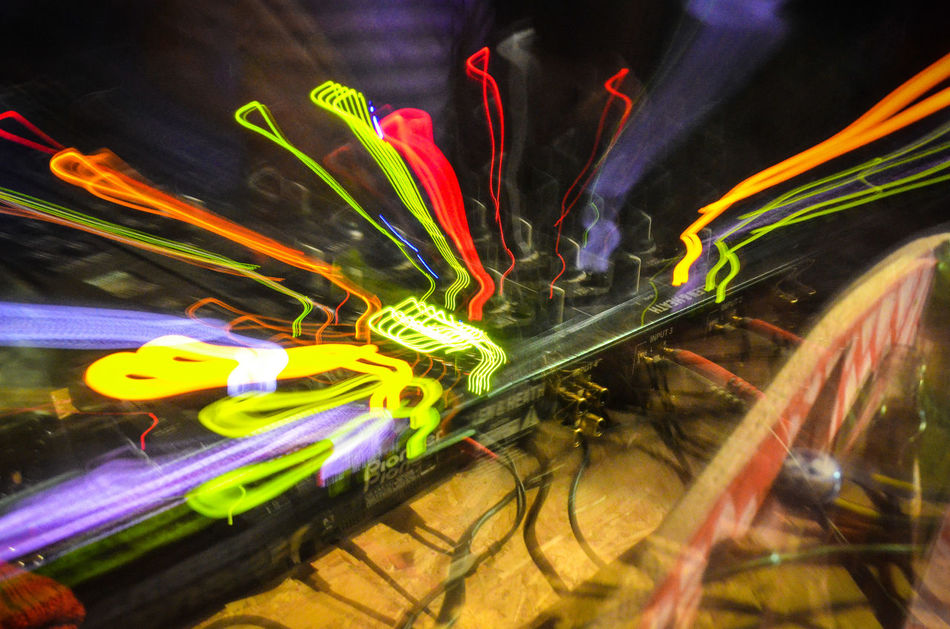 Underground Party Blurred Motion Camera Tossing Digital Illuminated Lepidoptera Light Light Trail Long Exposure Motion Multi Colored Night Nightlife Nightlifephotography No People Party Party, Vibrant Color Zoom Zoom,watch, Zoomthelife