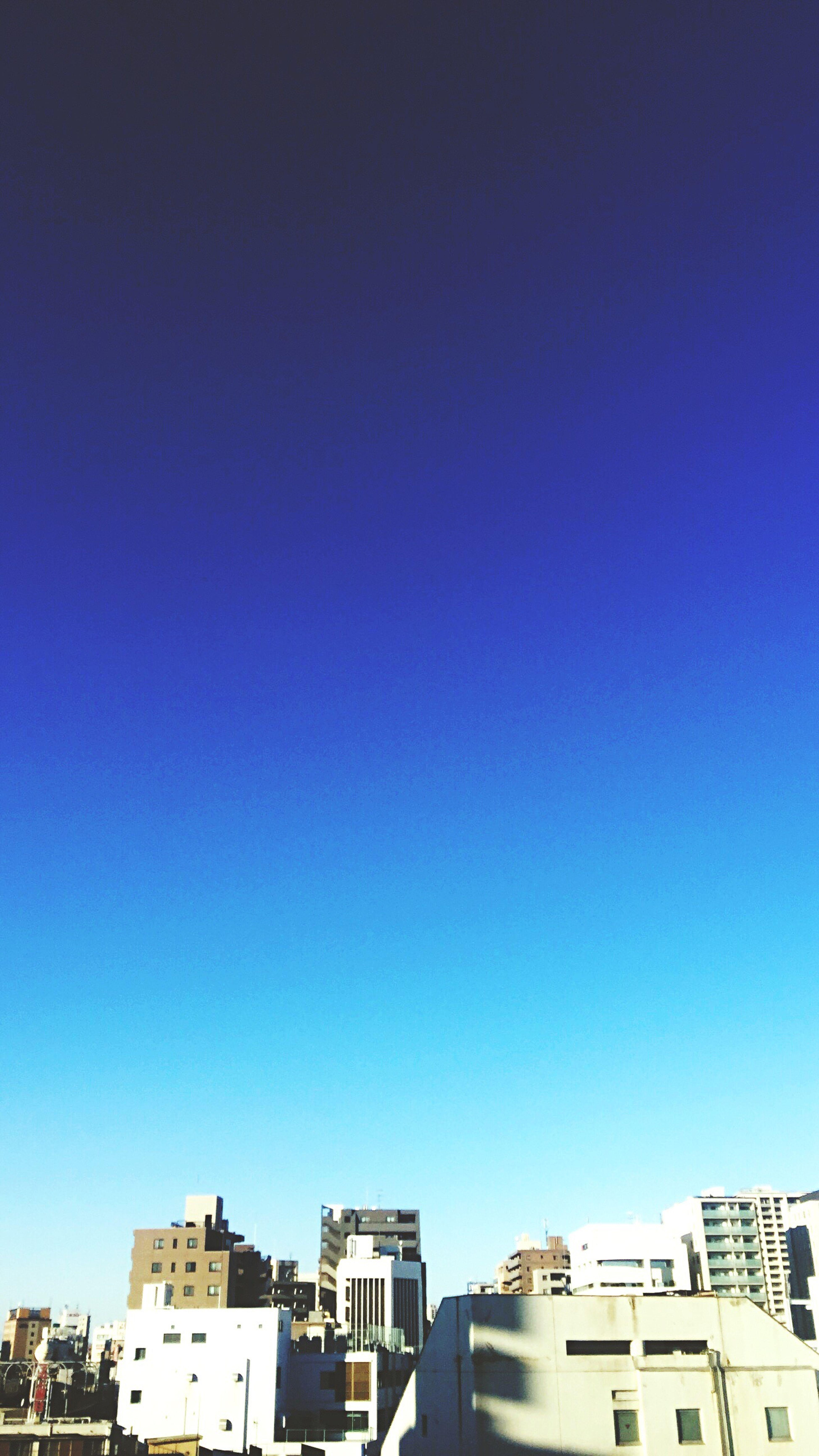 2017 New Year Clear Sky Blue Day Sky Tokyo,Japan 赤羽