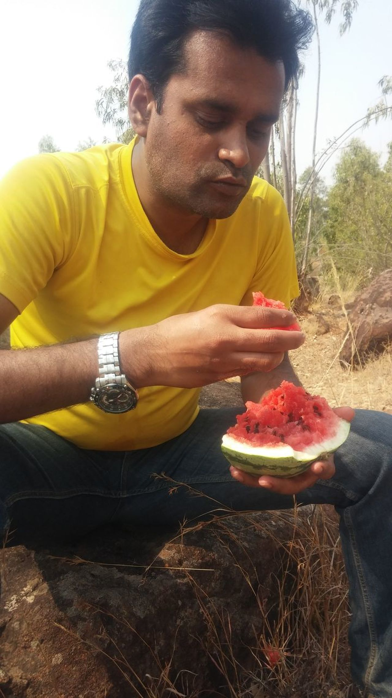 Inam Innovation photography... Day Deep Forrest Lunch Break Lunch Time! National Park Tiger Reserve Water Melon Wild Life Photography Wild Photography Horn Bik