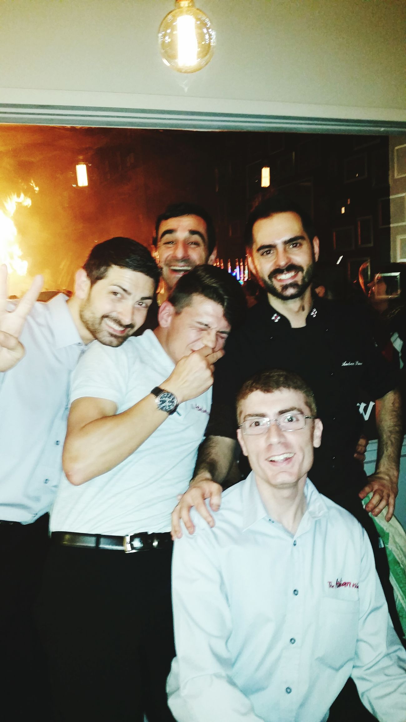 Happy People Myfriends Working Hard Laughing GreatNight