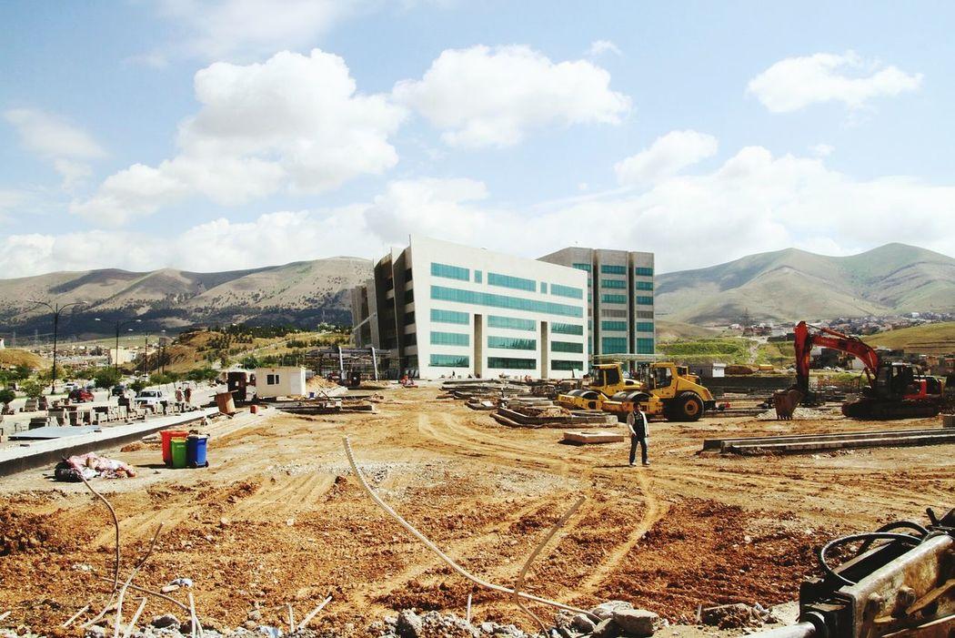 Inşaat  şantiye  Hastane Hospital ıraq Suleymaniye