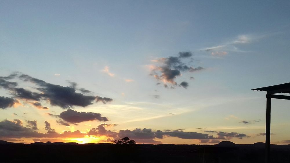 Sunset Cloud - Sky Sky No People Tranquility Mountain Outdoors Tree Beauty In Nature Nature Day Brazilian Brazil