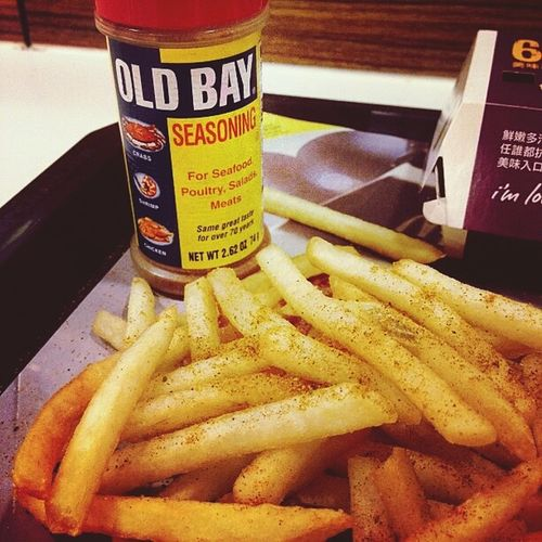 A Maryland thing. Old Bay Seasoning French Fries DMVarea