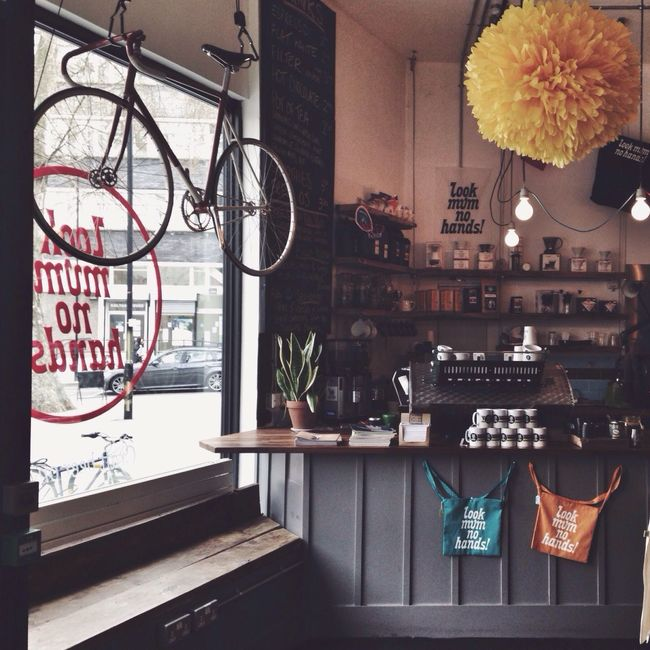 Independent Coffee Culture Hipster Fixie Interior