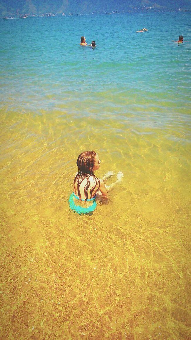 Olivia at Praia do Pinto Ilhabela