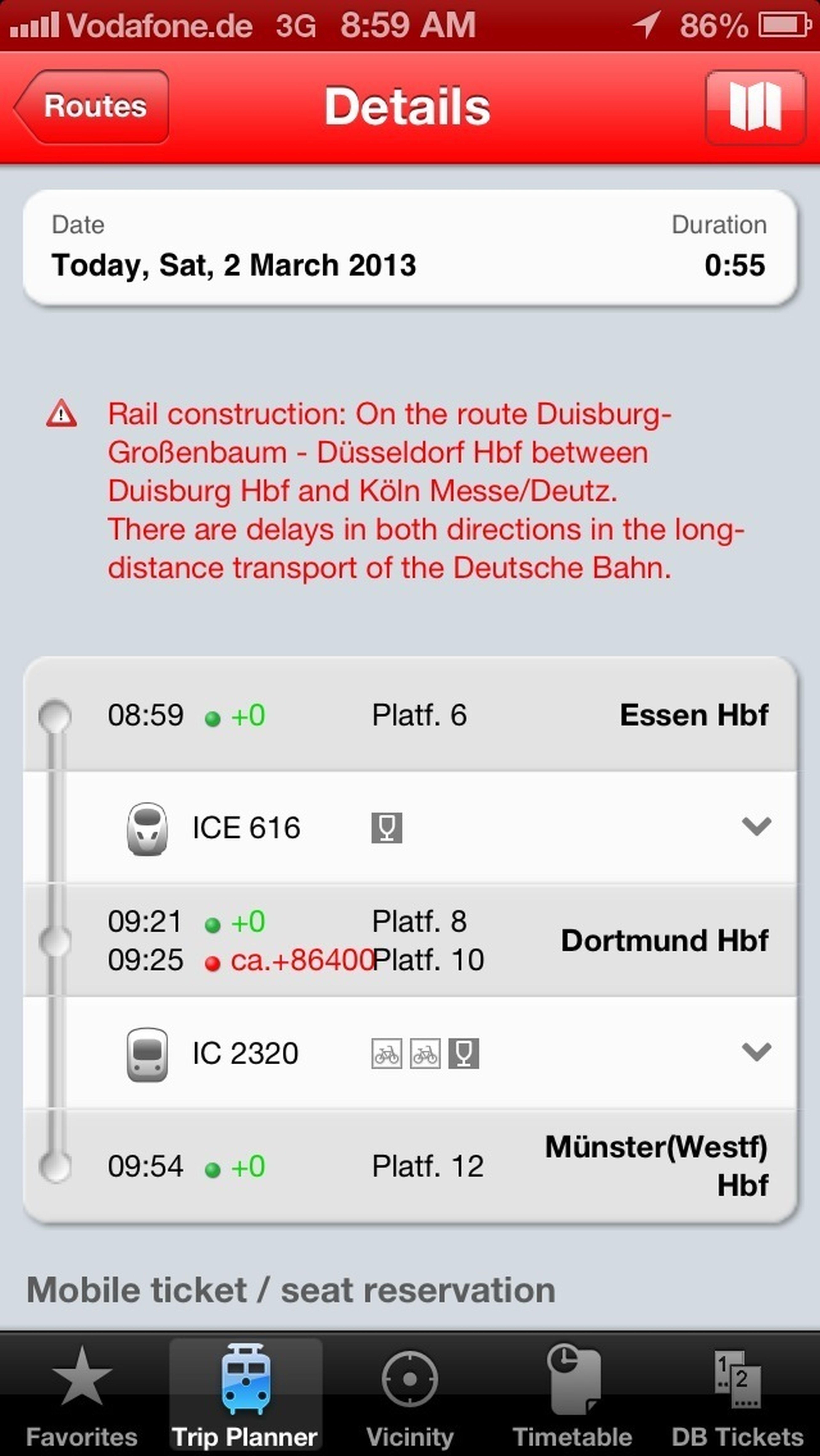 Neuer Bahnrekord: 86400 Minuten Verspätung #bahn #db