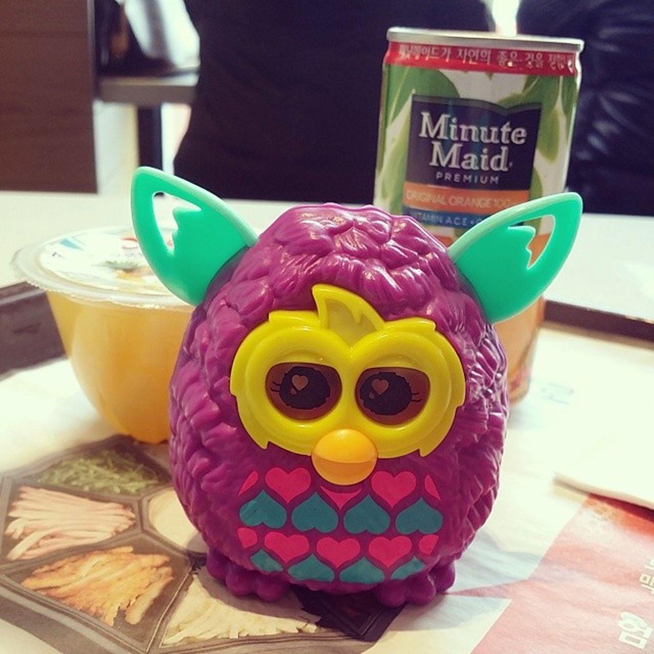 건젼당ㅋㅋㅋ 맥도날드 맥날 에서 해피밀 맥모닝 맥모닝세트 m도날드 Furby Boom 퍼비 핑크앤블루하트 yummy 맛스타그램 먹스타그램 foodstagram korea