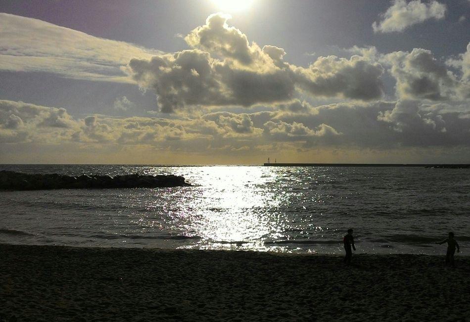 Sea Beach Sky Clouds Pegli Genova Kidsplaying Italy
