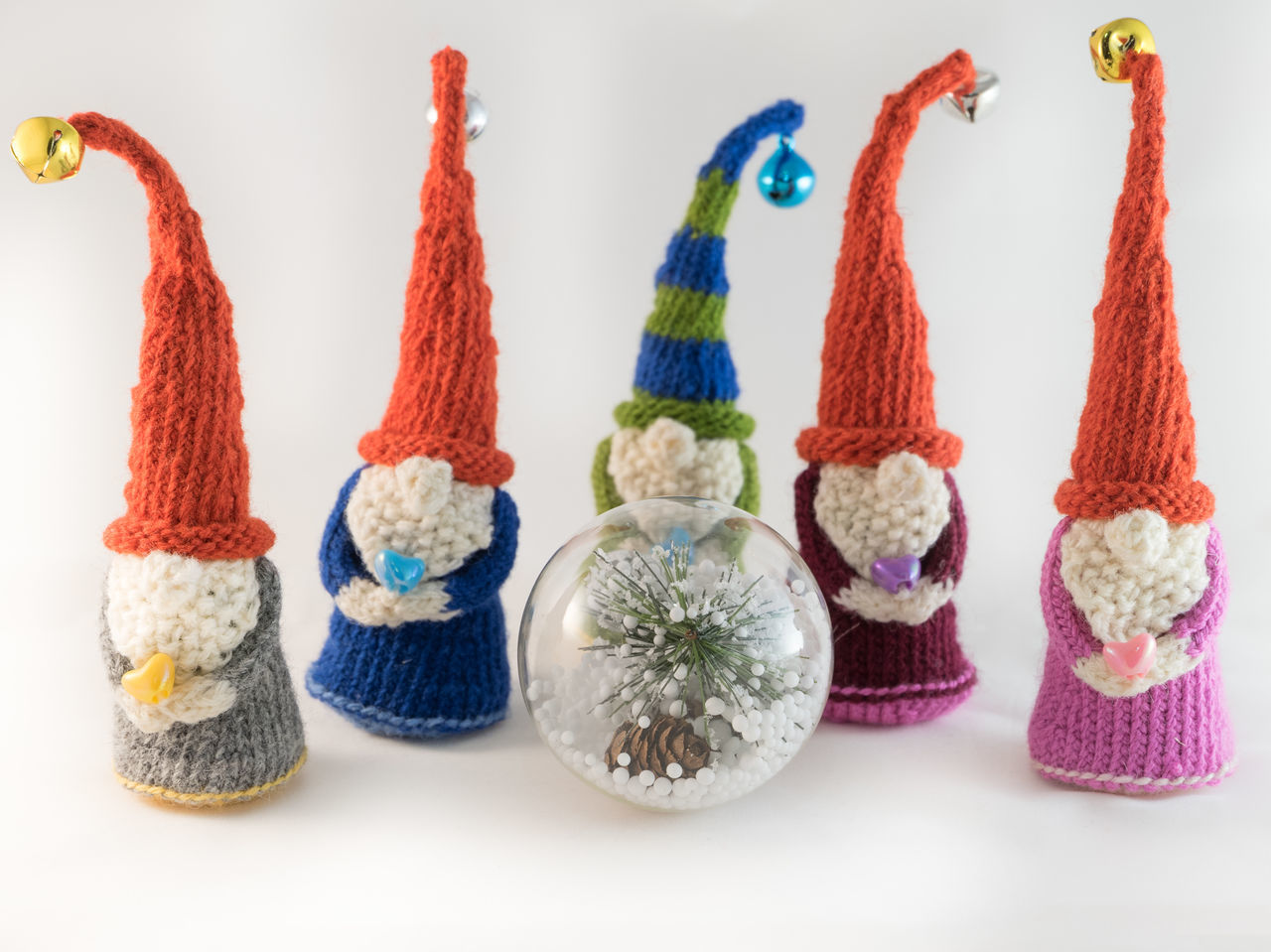 Beard Bell Christmas Christmas Around The World Christmas Decoration Christmas Decorations Christmas Market Christmas Ornament Christmas Spirit Christmas Time Christmastime Decoration Elf Gnome Gnomes Handmade Knitted  Knitting Ornaments Product Photography Red Hat Small Business Small Figure White White Background