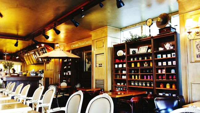 Indoors  Variation Retail  Illuminated Collection Abundance Arrangement Arranged Choice Shelf Order No People Cafe Vintage Cozy Warm Tea Shop Tea Time! Tea Coffee Old Timey Classic Classical Architecture Classic Elegance
