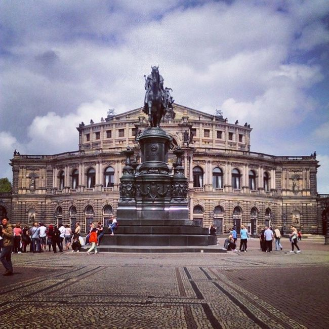 Dresden City Altstadt Architecture statute historical amazing beauty colors art instaart instagramhub instagood bestoftheday instahistory sky skypainters skyporn blue cloud cloudporn