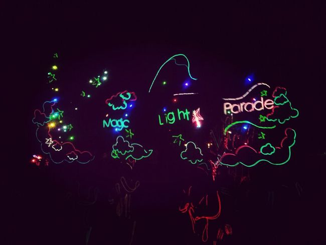 Night Lights Magic Light Parade Six Flags Mexico