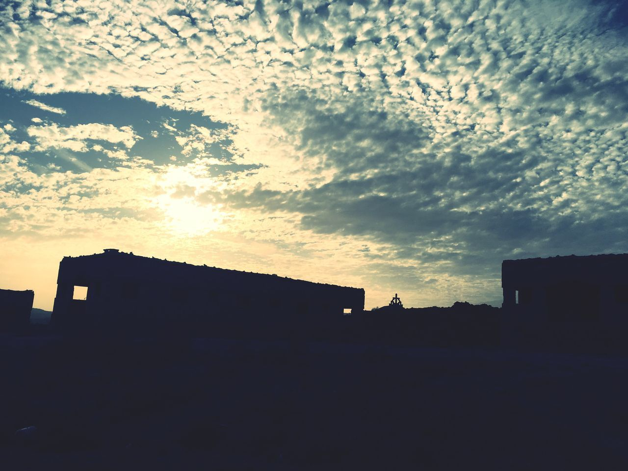 Building Exterior Built Structure Architecture Silhouette Sky Sunset No People House Outdoors Cloud - Sky Nature Day