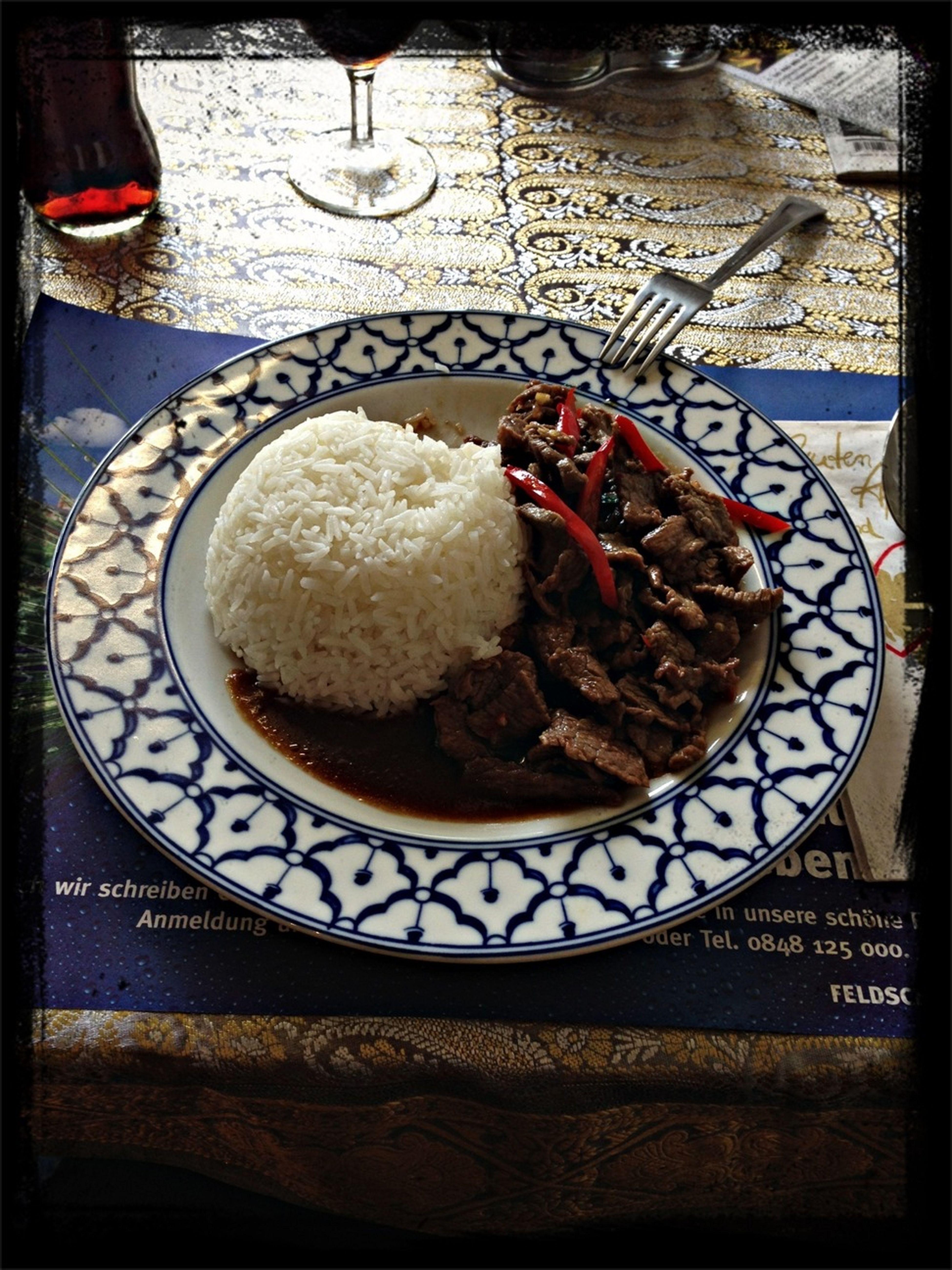 My Dinner Asian Food Yum Yum Pad Gra Prau Nuea