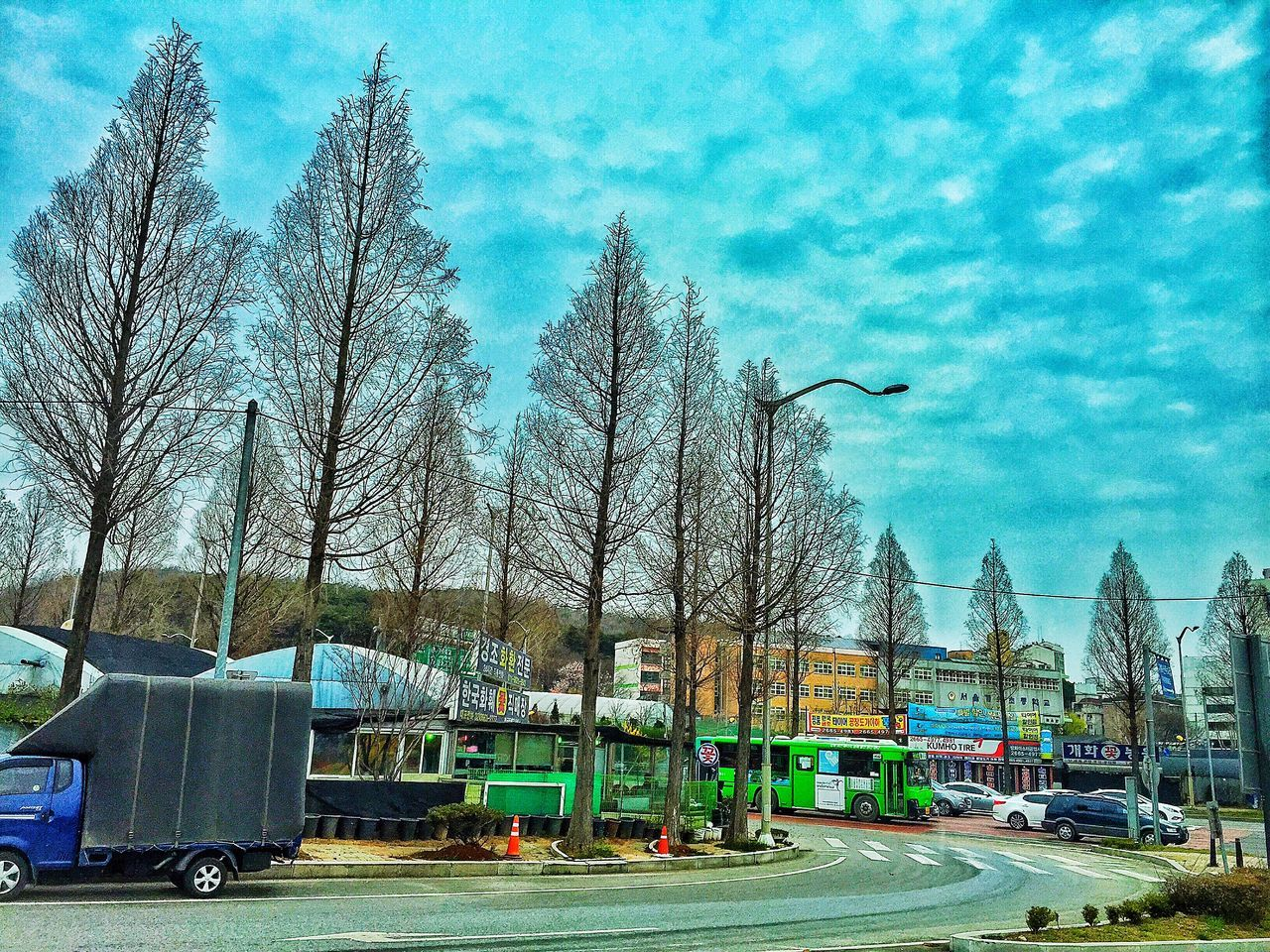 Rural Scene Original Experiences Feel The Journey Korea Tree Sky And Clouds No People Tranport Suburban Streets Shops