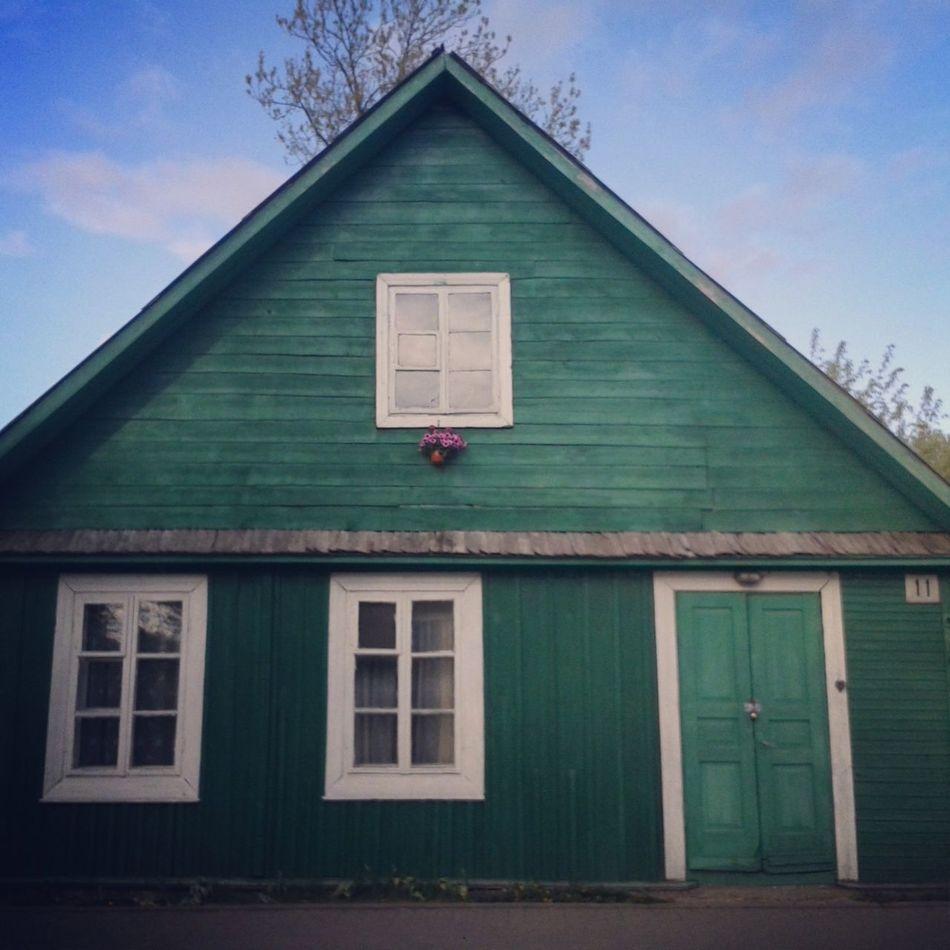 little pretty house Trakai Lithuania Lietuva Wood And Flowers