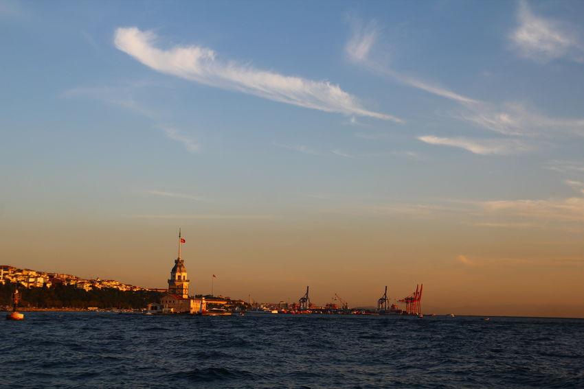 Beauty In Nature Cloud Cloud - Sky Orange Color Sea Sky Sunset Travel Destinations Water