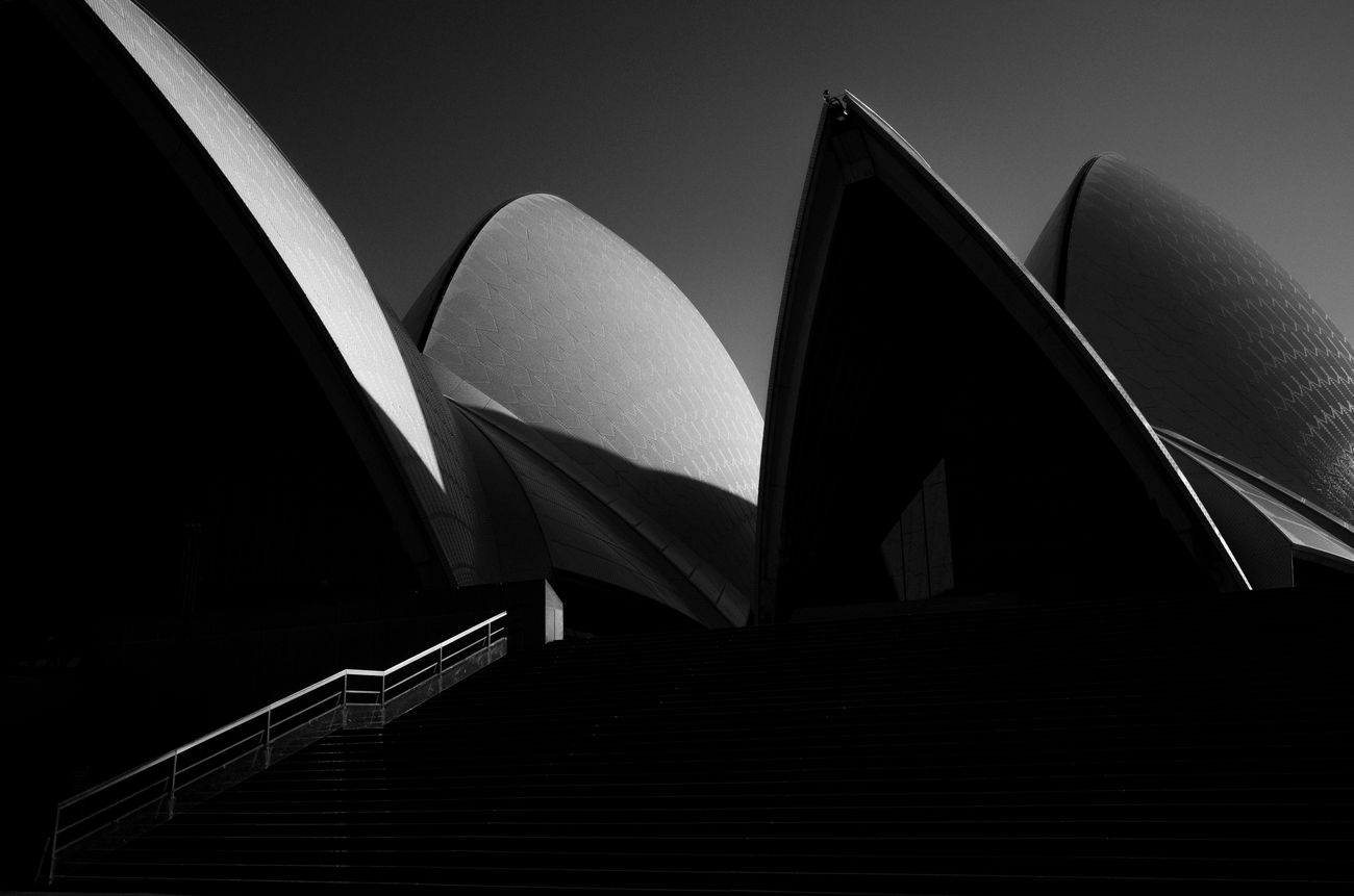 Opera House, Sydney Architecture No People Outdoors The Architect - 2017 EyeEm Awards Black And White Photography Black And White Monochrome Photography Australia Sydney Maxgor.com Maxgor Rawstreets Light And Shadow Urban Cıty Urbanlife Modern Built Structure Leica Modern Leica X Vario Opera House Sydney Opera House BYOPaper!