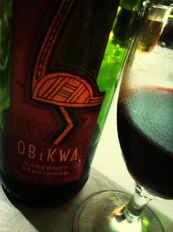 Drinking South African wine on new year's eve